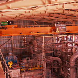 پوشش سقف به متراژ 75000 متر مربع – شرکت پتروشیمی مارون، منطقه ویژه اقتصادی ماهشهر –  1382